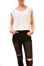 One Teaspoon Women's Luxe Top Tee White Size S RRP $50 BCF84