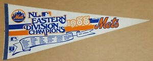 New York Mets 1988 NL Eastern Division Vintage Baseball Team Pennant