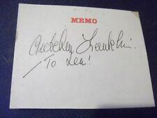 EastEnders BlackAdder George & Mildred GRETCHEN FRANKLIN hand signed page