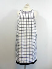 missguided contrast curve hem shift dress monochrome grid SIZE 10 BOX8512 N