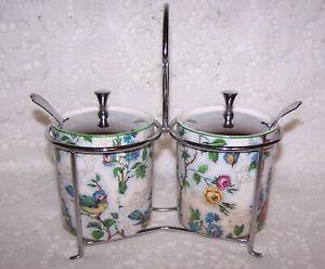 Royal Winton Preserve/Pickle Jars Lorna Doone Chintz