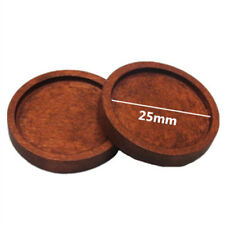10pcs Round Wooden Cameo CABOCHON Setting Base/tray Pendants DIY Necklace Making 25mm Red Brown