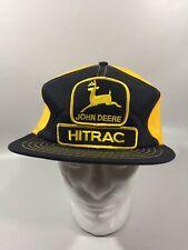 Vintage John Deere HITRAC Mesh Trucker Snapback Hat CA02839