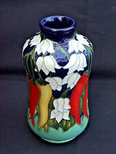 Moorcroft Chilli Peppers Vase 98/5. Paul Hilditch 2009 Mediterranean Col Perfect