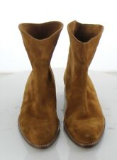 86-20 MSRP $375 Women's Size 7.5M Vince 'Sinclair' Flat Suede Booties in Brown