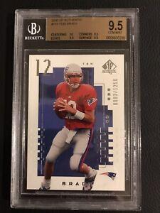 2000 SP Authentic Tom Brady Rookie RC /1250 #118 BGS 9.5 Gem Mint!