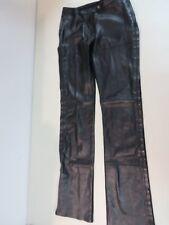 GIANFRANCO FERRE JEANS Leather/viscose Combo Side zip Black 38