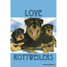 Rottweilers Love Decorative Flag