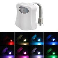 Upgrade LED Toilet Bathroom Night Light PIR Motion Activate Sensor 8Color Change