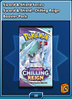 50 Pokemon Chilling Reign TCG ONLINE CODE Booster Packs Delivered In Game