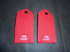 Fire Cadet Fire & Rescue Red Epaulettes Rank Slides