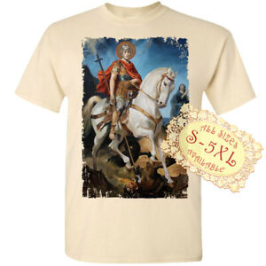 Saint Jerzy V20 Catolic Christian DTG T SHIRT All sizes S-5XL