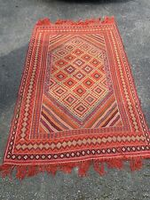 Vintage Tunisie Antique Exquisite Hand Knotted Bohemian Style Rug 8x5 Imported