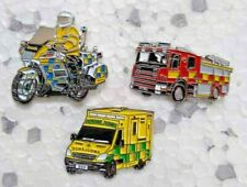 Collection Fire Engine Ambulance Police Motorcycle pin badges Emergency Services