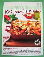 Australian Women's Weekly 100 FAMILY MEALS Cook Book PB VGUC AWW
