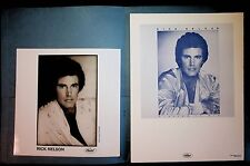 PROMO FOR  RICK NELSON'S LP: PLAYING TO WIN - RARE BOOKLET & PHOTO - CAPITAL REC