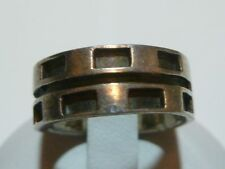 WOMENS VINTAGE ESTATE MODERN STERLING SILVER RING BAND 7-8mm SZ 6.5