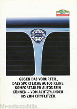 LANCIA PROSPEKT 4/88 Car Brochure 1988 tema PRISMA DELTA y10 AUTO AUTOMOBILI ITALIA