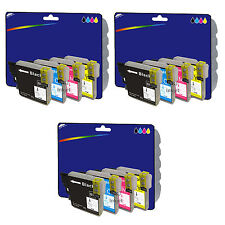 3 Sets of Compatible Printer Ink Cartridges for Brother MFC-J6510DW [LC1280]