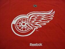 NHL Detroit Red Wings National Hockey League Fan Reebok Apparel Red T Shirt 2XL