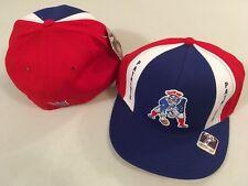60e712c75c8 New England Patriots Grid Iron NFL Cap Hat Retro Flat Brim Fitted Reebok