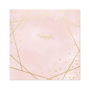 """Rose Gold Design 6"""" x 4"""" Photo Album Memo Slip in Holds 200 Photos"""