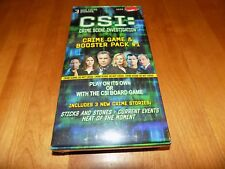CSI CRIME SCENE GAME & BOOSTER PACK #1 3 NEW CRIME CASES TV Series SEALED NEW