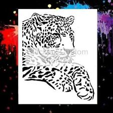 Laying Leopard Large Airbrush Stencil,Template