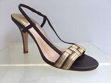 Cole Haan Nike Air 8.5 brown gold slingbacks womens ladies sandal heels