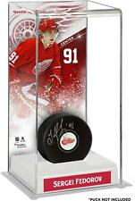 Sergei Fedorov Detroit Red Wings Deluxe Tall Hockey Puck Case - Fanatics