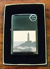 Zippo Lighter Lighthouse Beach 2002 Design