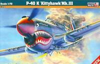 P-40 K KITTYHAWK MK.III (RAF /112 SQN/, USAAF & SOVIET AF MKGS) 1/72 MISTERCRAFT