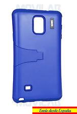 Funda Samsung N910 Galaxy Note 4 protectora / bumper con soporte azul