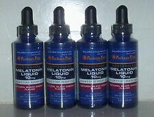 MELATONIN LIQUID 10mg NIGHT TIME SLEEP AID BLACK CHERRY 8 FL OZ 4 BOTTLE LOT