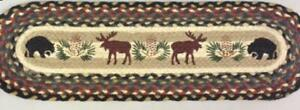 Bear and Moose Print Stair Tread or Table Runner