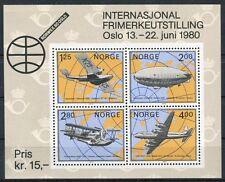 Norvegia/Norway 1980 Bf 3 Esposizione filatelica Norvex 80 Mnh