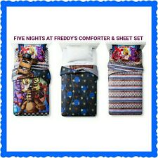 Five Nights At Freddy's Game Twin Bed Comforter & Sheets Bonnie Foxy~ OFFICIAL