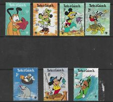 HICK GIRL- MINT TURKS & CAICOS STAMPS    DISNEY  MICKEY  WATER FUN!      T228