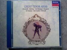 GREAT TENORS ARIAS - PAVAROTTI - BJORLING - DEL MONACO EC - CD COME NUOVO (MIND)