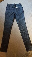 Next PU black leather look leggings Size 10XL 38 Eu