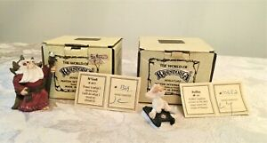"""World of Krystonia 2 Figures Poffles & N'Grall 2"""" Numbered with Boxes"""