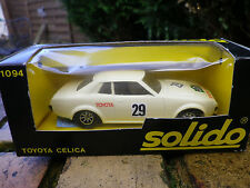 SOLIDO France N° 1094 TOYOTA CELICA RALLYE beige, comme neuf en boite d'origine.