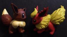 2 X TOMY Pokemon Figures 2005 Eevee Flareon Eeveelutions Kanto Fire RARE