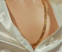 Classy Signed BMNY Vintage 24K Gold Plated Modernist Necklace  1677o