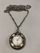 "Vintage Lucerne 30"" Necklace Watch Runs Well"