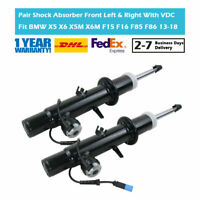 Pair Front Suspension Gas Shock Absorbers Fit BMW X5 X6 X5M X6M F15 F16 F85 F86