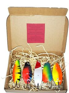Weedless Lure Fishing Spoon Spinner Bait Box Perch Tackle Bass Hand made
