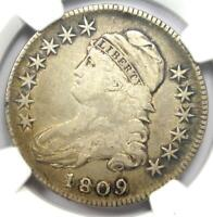 1809 Capped Bust Half Dollar 50C - Certified NGC VF Details - Rare Date!