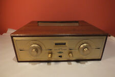 Vintage HH Scott 330-C AM FM Stereo Tube Tuner with Wood Cabinet Audio GOLD