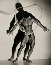 1987 Vintage HERB RITTS Nude Male Muscle Body Bubble Photo Engraving Art 16x20